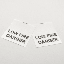 Low Fire Danger Label