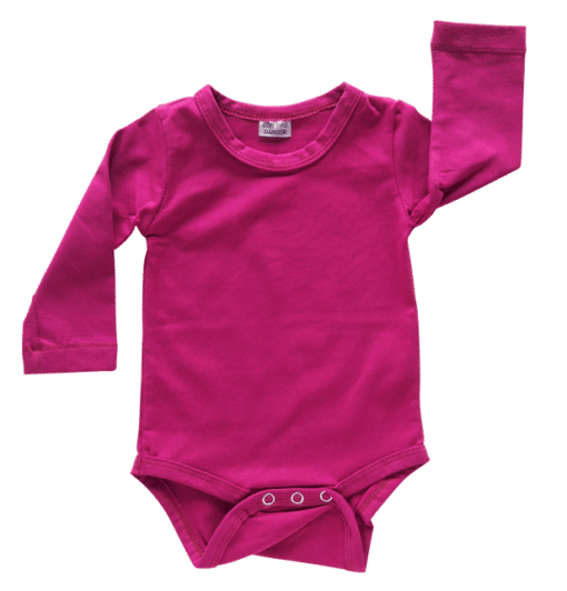 Berry Long Sleeve Onesie Romper Bodysuit Wholesale