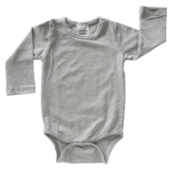 Light Frosted Grey Long Sleeve Onesie Romper Bodysuit Wholesale