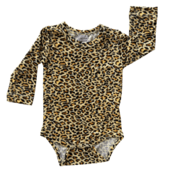 Leopard Long Sleeve Onesie Romper Bodysuit Wholesale