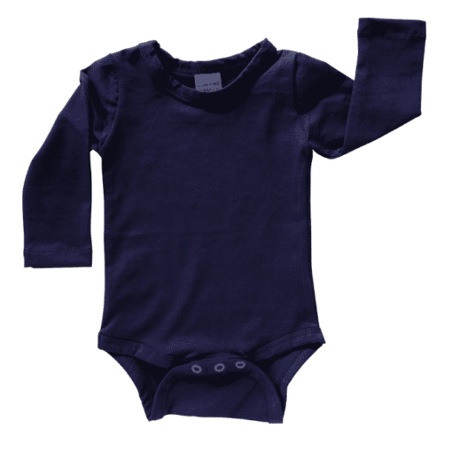 Long sleeve Navy onesie romper bodysuit