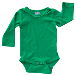 Forest Green Long Sleeve Onesie Romper Bodysuit Wholesale