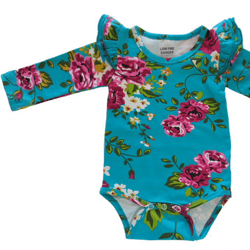 Aquafloral Long Sleeve flutter onesie Bodysuit wholesale