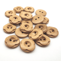 Wooden Flower Button