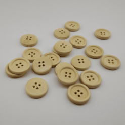 Ivory Wooden Button 20mm 20pk