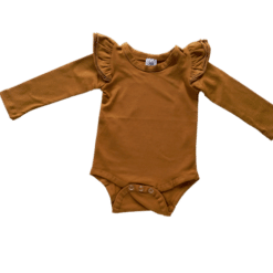 Saddle Brown Long Sleeve Fluttersuit