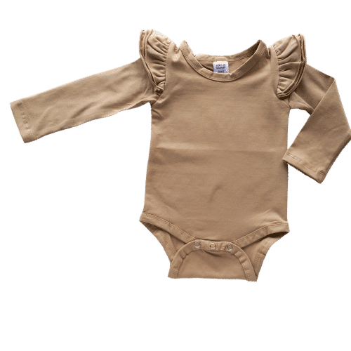Tan Long sleeve Fluttersuit