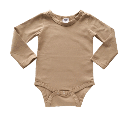 Tan Long sleeve winter onesie australia