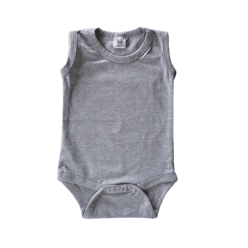 Light Frosted Grey Sleeveless Onesie