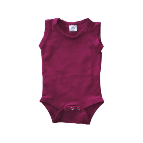 Sleeveless Berry Onesie