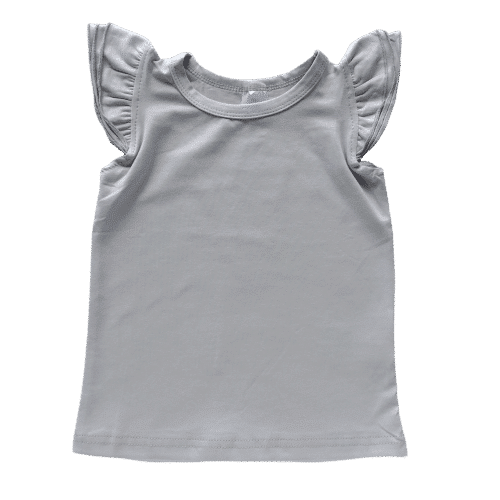 Soft Grey Sleeveless Fluttertop Australia