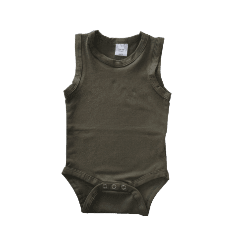 Sleeveless Army Green Onesie