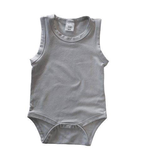 Sleeveless Soft Grey Onesie