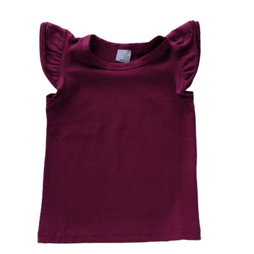 Wine Flutter top sleeveless