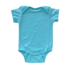 Envelope neck short sleeve onesie light blue