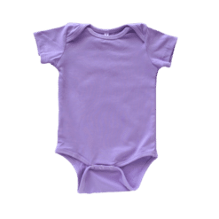 Envelope neck short sleeve onesie lavender