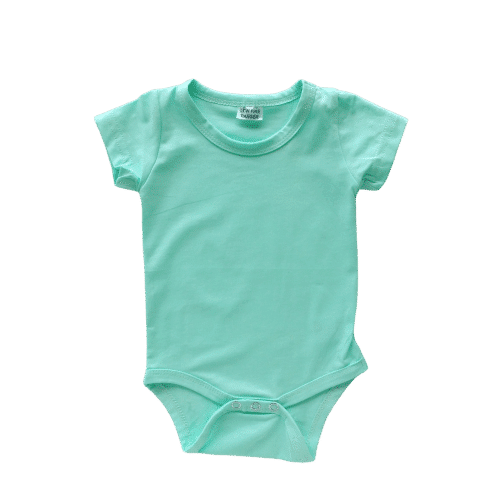 Mint short sleeve onesie