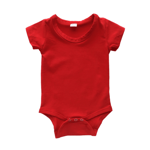 Red Short Sleeve Onesie