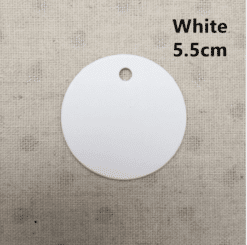 BLANK round clothing tags
