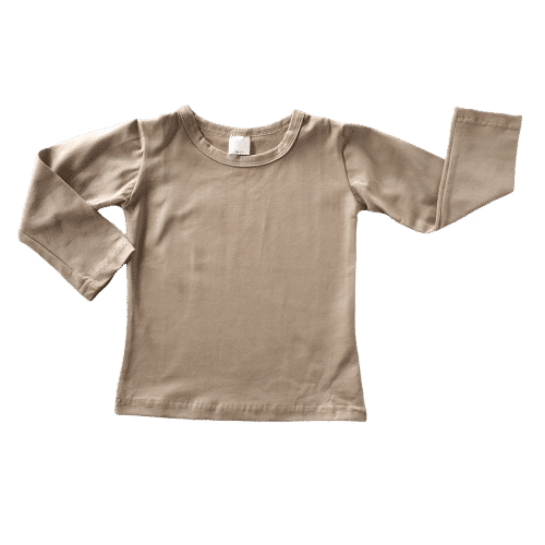 Tan Long Sleeve Winter Top Australia