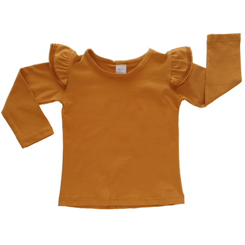 Rusty Long sleeve Fluttertop