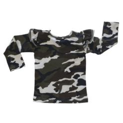 Camo Long sleeve Fluttertop