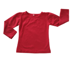 Red Long sleeve Winter Top
