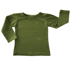 Long Sleeve Olive Khaki Green Winter Top