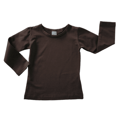 Dark Chocolate Brown Long Sleeve Winter Top Australia