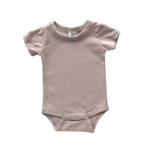 tan short sleeve onesie
