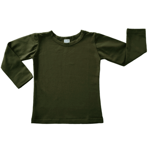 Army Green Long Sleeve Winter Top Australia