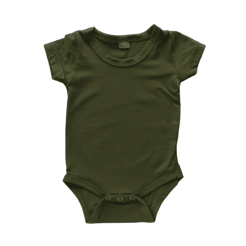Army Green short sleeve romper