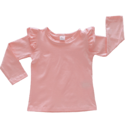 Peachypink Long Sleeve Fluttertop