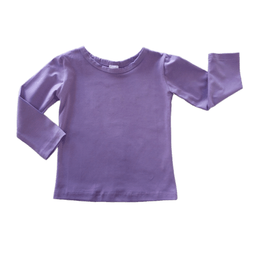 Plain Blank Lavender Top
