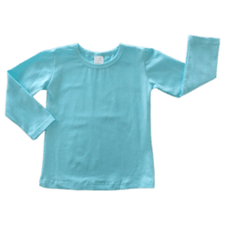 Light Blue Long Sleeve Blank Top Australia
