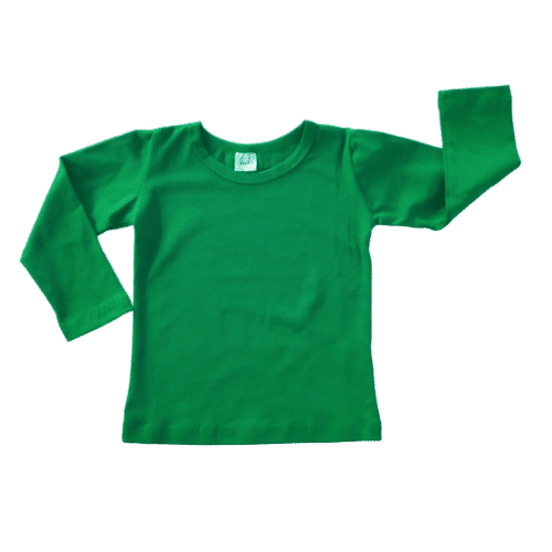 Forest Green Long sleeve Plain Top