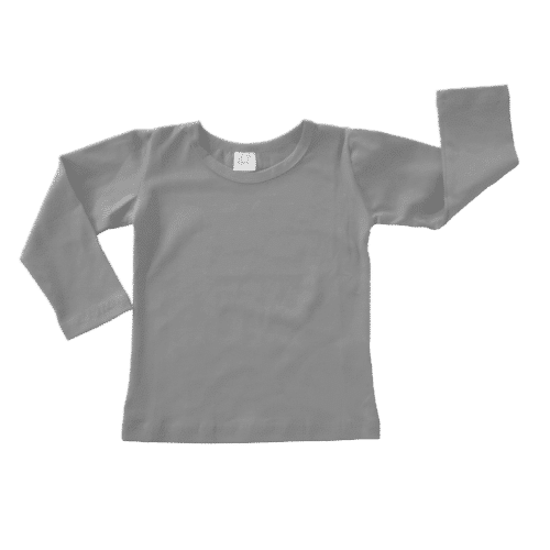 Soft Grey Long sleeve blank top